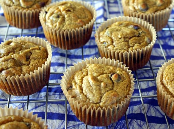 Paleo, Gluten-Free, Nut-Free, Banana Date Muffins